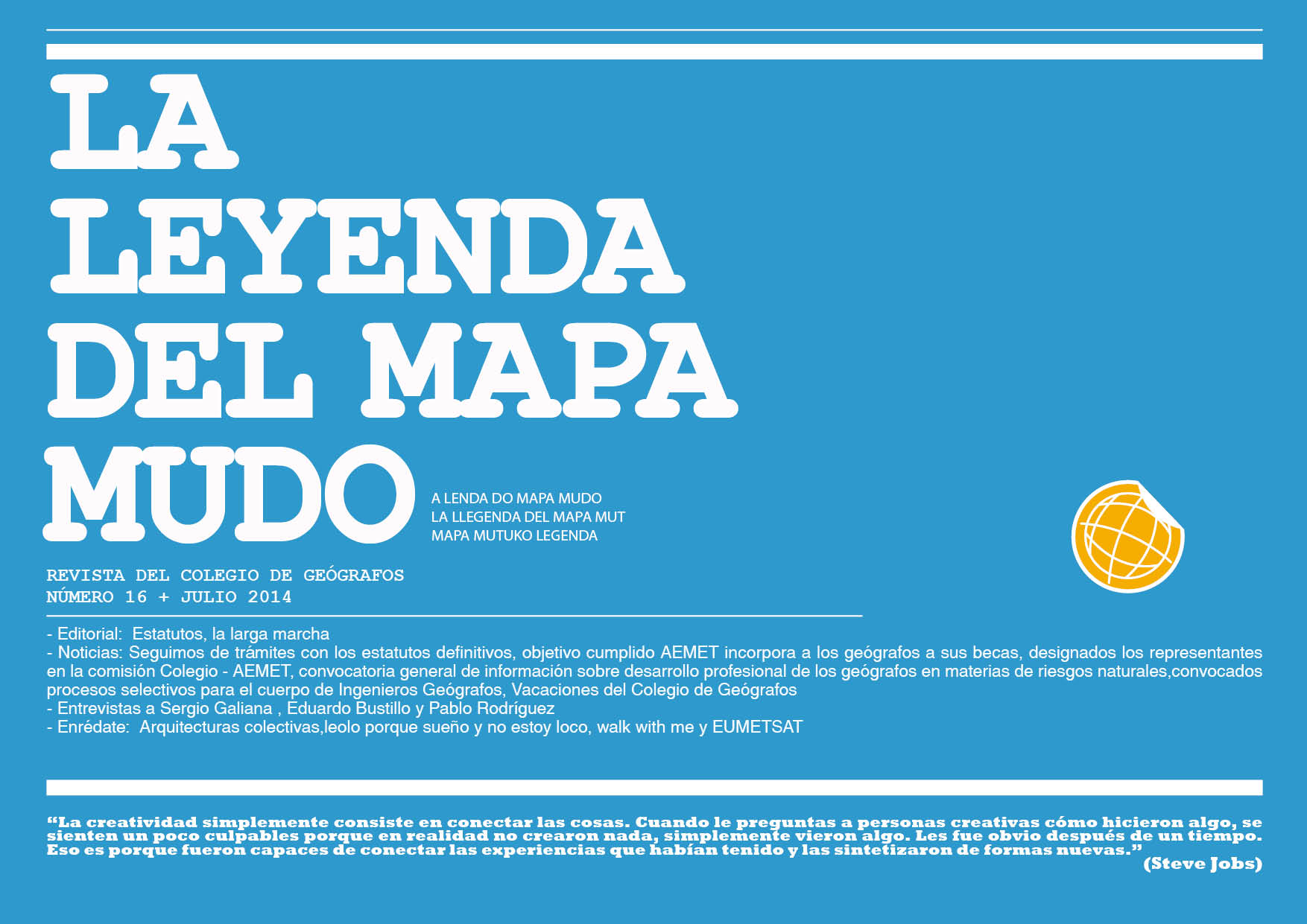 Portada Leyenda del Mapa Mudo Julio 2014