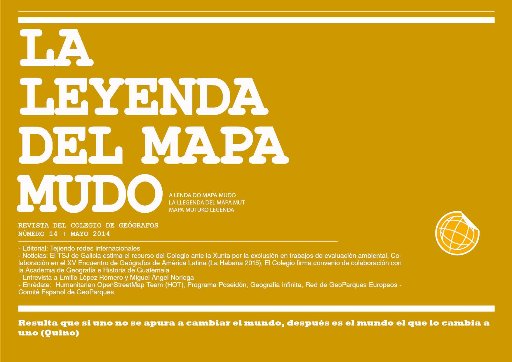Portada Leyenda del Mapa Mudo Mayo 2014