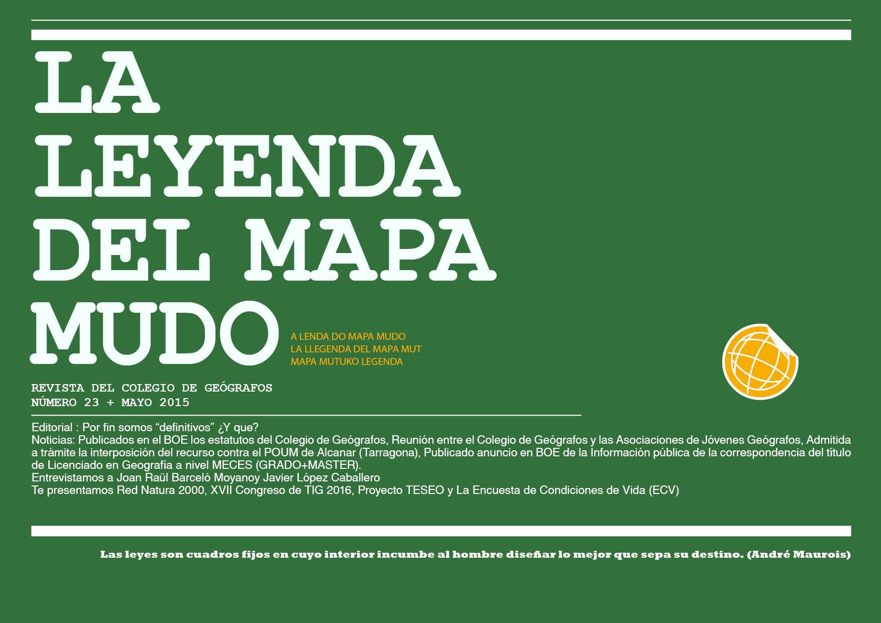 Portada Leyenda del Mapa Mudo Mayo 2015