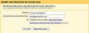 Añadir direccion correo geografos.org en Gmail