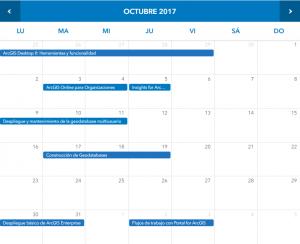 Formacion ESRI España presencial - Octubre 2017