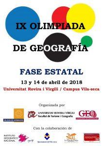 Olimpiada de Geografía - Fase Estatal
