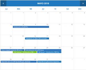 Esri España - Cursos Mayo 2018