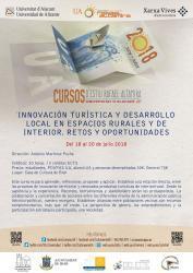 Innovación turística y Desarrollo Local en Espacios Rurales y de Interior