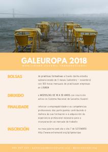 Cartel GALEUROPA - Estancias en Lisboa