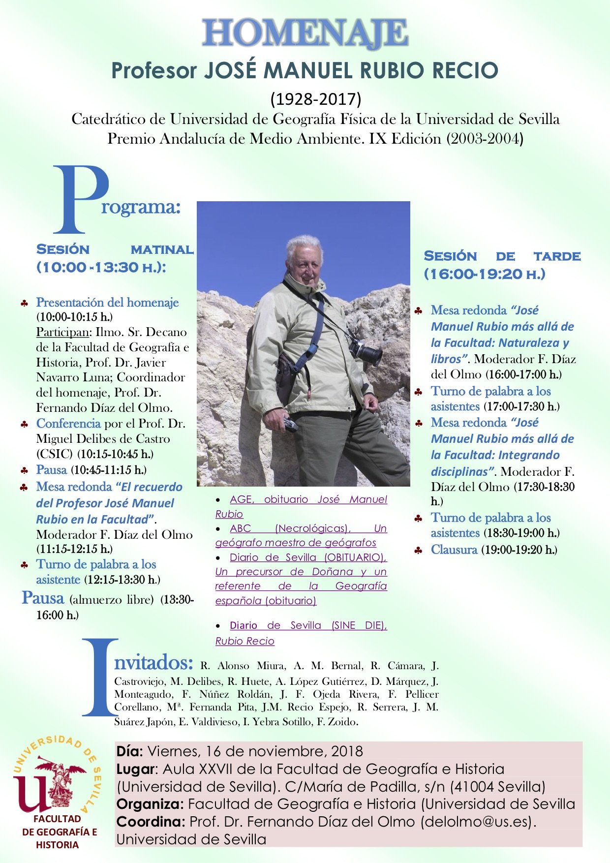 Homenaje Profesor José Manuel Rubio Recio