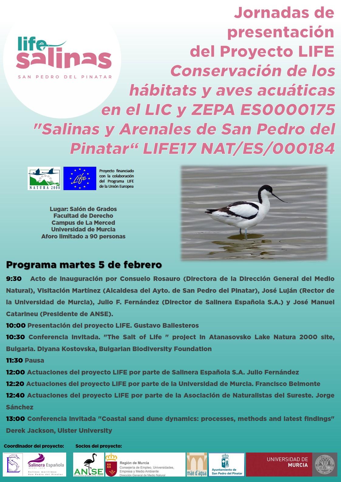 Jornada de presentación del Proyecto LIFEConservación de los hábitats y aves acuáticas en el LIC y ZEPA ES0000175