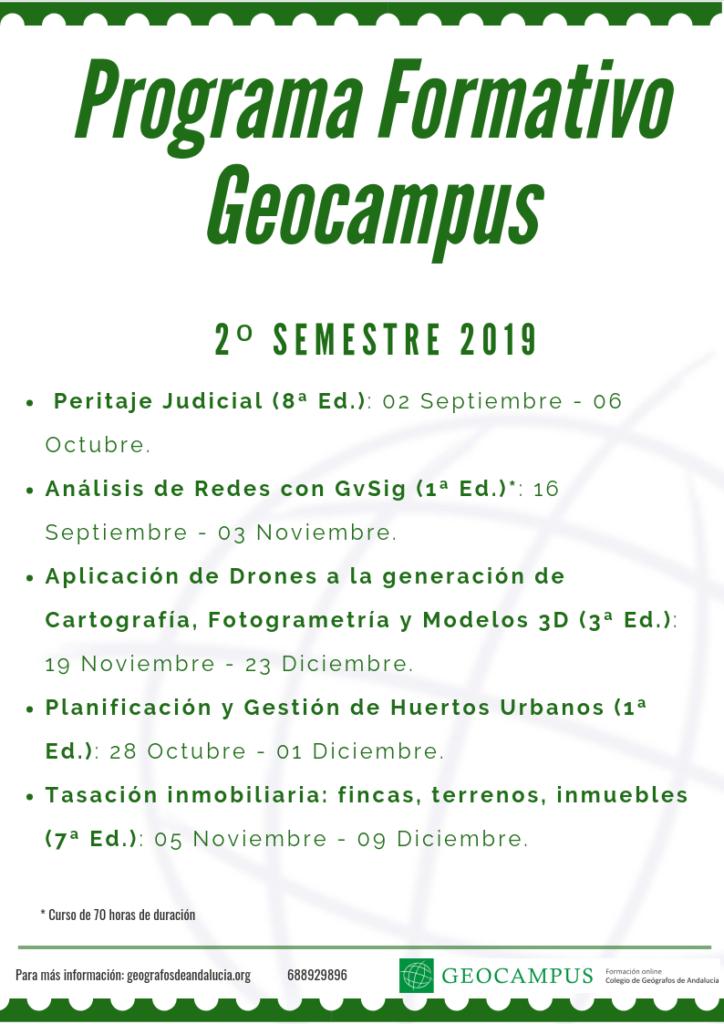 Programa Formativo Geocampus Segundo semestre de 2019