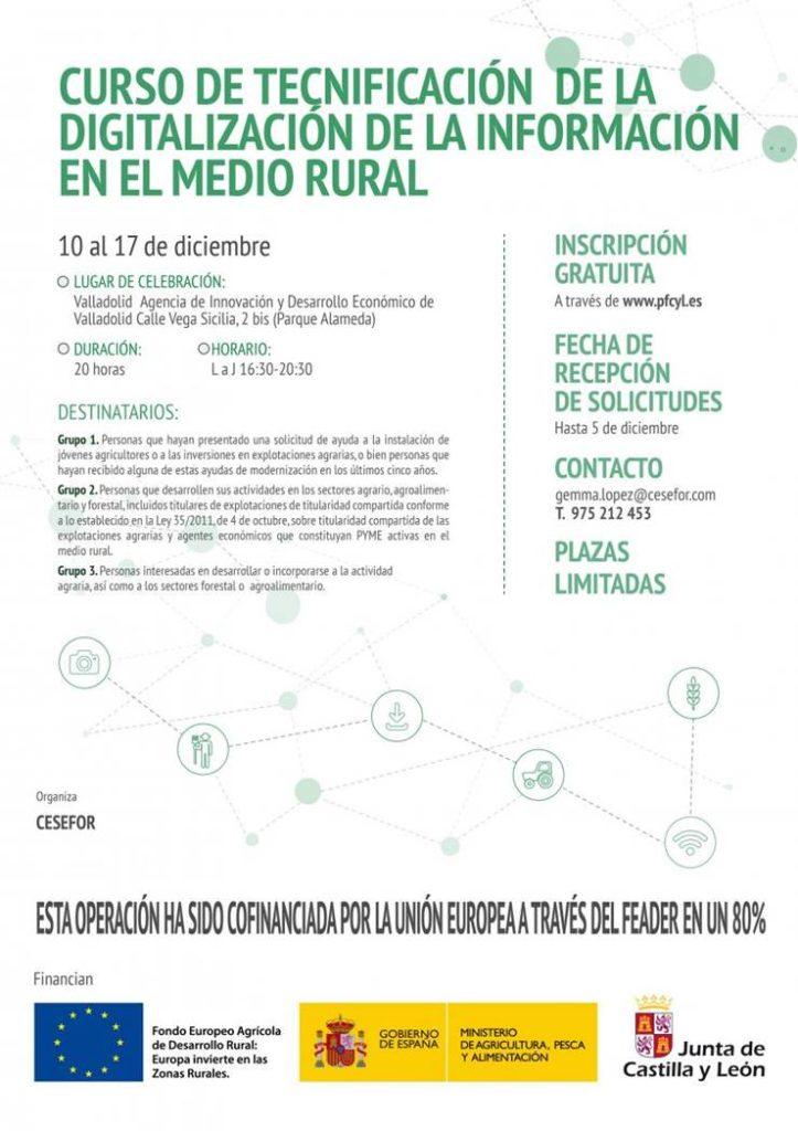 Curso de tecnificación de la digitalización de la información en el medio rural