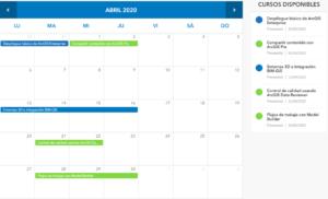 Novedad ESRI  - Cursos en remoto abril 2020