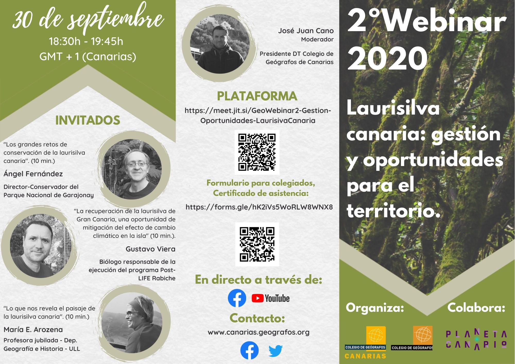 Webinar Laurisilva canaria: gestión y oportunidades para el territorio