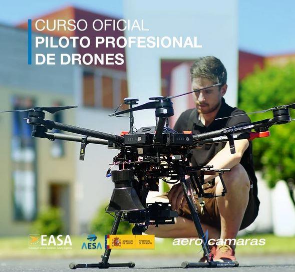 Curso oficial de piloto de drones aerocamaras