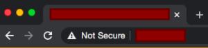 Web no segura sin https