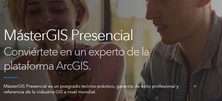 Esri España ofrece un descuento del 10% en su MásterGIS Presencial y MásterGIS Online a nuestras colegiadas y colegiados