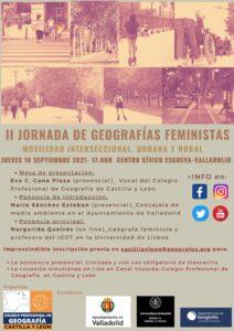 II Jornada sobre Geografías Feministas